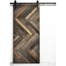 Wooden Barn Door by Sliding Barn Door Herringbone Stylish Gray Stain U2026 Pinteres U2026