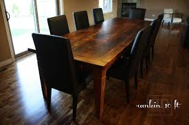 Leather Parsons Chairs 10 Ft Reclaimed Wood Harvest Table With Black Leather Parsons