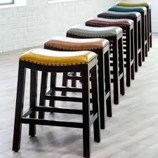 stools espresso saddle seat bar stools espresso saddle bar