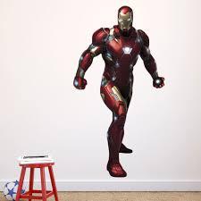 iron man civil war wallsticker fra kun iron man civil war wallsticker