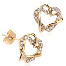 new arrival fashion new model yellow gold earring designs heart