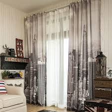 Black Curtains For Bedroom Shop 3d Linen Cheap Curtain Fabrics Eiffel Tower