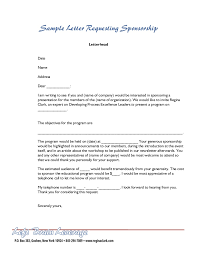 format of request letter to company sponsorship letter proposal letter for sponsorship sle for event