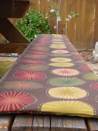 picnic table seat covers generation sue picnic bench seat cover a tutorial