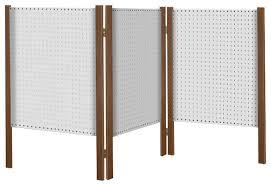 tabletop folding pegboard organizer and display cedar