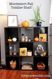 themed shelves lovejoywonder montessori fall autumn themed shelves toys