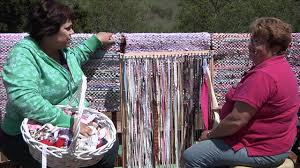How To Rag Rug Rag Rug Weaving Youtube