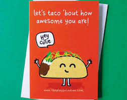taco birthday card etsy