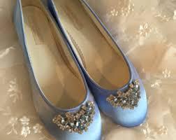light blue wedding flats items similar to wedding shoes flats crystal bow blue flats