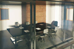 Modern Loft Furniture by Loft Style Office With Modern Furniture And City View Stock