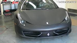 matte wrapped cars matte black ferrari 458 italia car wrap stickercity com youtube