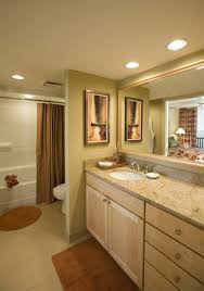 bathroom recessed lighting placement lighting agreeable recessed vanity placement mirror over vs