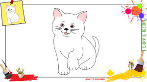 how to draw a cat 3 simple easy u0026 slowly step by step for kids