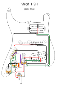 electric guitar wiring strat hsh coil tap electric circuit