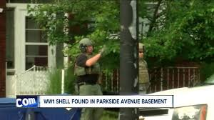 Backyard Artillery Parkside Avenue Resident Finds Ww1 Artillery Shell In Basement