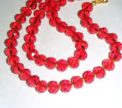 red crystal beads necklace images 75 best dainty crystal bead necklaces images bead jpg