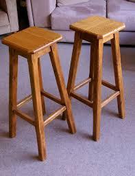 pierson solid oak bar stools u2013 80cm u2013 pair