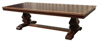 Custom Made Dining Room Tables by Hand Made Custom Solid Mahogany Extension Trestle Dining Table By