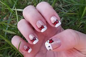 cute u0026 simple hello kitty nail art designs u0026 stickers nail art