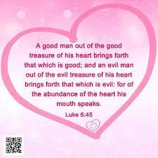 luke 6 45 good treasure evil treasure bible verse