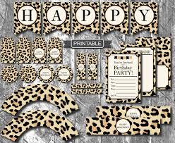 diy leopard print cheetah print birthday party decorations