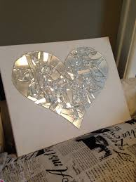 Shattered Glass Table by Broken Mirror Art Supplies Needed Mirror Glue Gun And