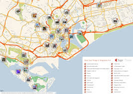 Cable Car Map Maps Update 31972079 Tourist Map Of Singapore City U2013 Detail