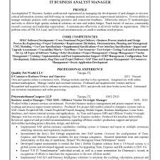 business management resume exles looking competencies it for business analyst resume for