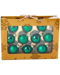 find the best deals on solid 10pc glass ornaments green green