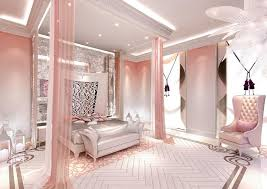 Home Interior Themes Rooms Pink Paint Colors Model Design Bedroom This