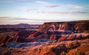 the painted desert where rocks morph into fiery color