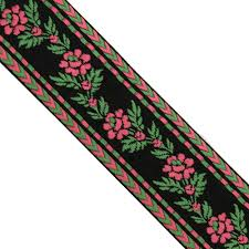 jacquard ribbon by the yard 5 yards 1 1 2 wide 38mm floral woven jacquard ribbon trim