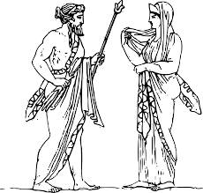 clipart zeus and hera