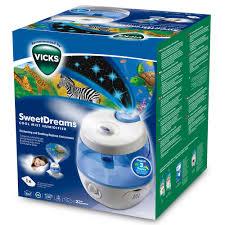 humidificateur pour chambre bébé humidificateur ultra sonic sweetdreams bleu blanc de vicks