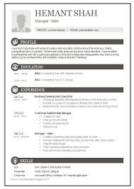 Download Sample Resume Template Best 25 Resume Format Free Download Ideas On Pinterest