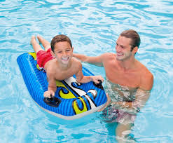 amazon com intex joy rider surf and slide pool floats blue