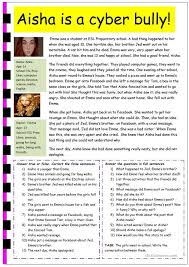 cyber bullying worksheet free worksheets library download and
