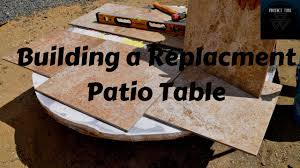 patio table with removable tiles building a tile table top for my patio table youtube