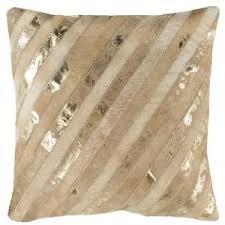 Metallic Cowhide Pillow Throw Pillows Decorative Home Accessories Safavieh Com