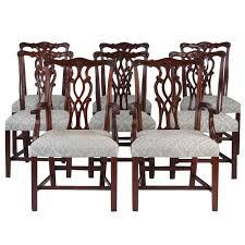 Chippendale Dining Room Furniture Late 19th Early 20th Century Set Of Eight Chippendale Style Dining