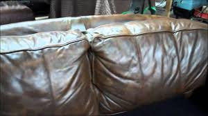 Leather For Sofa Repair Clifton Nj Badly Faded And Damaged Aniline Leather Sofa Repair And