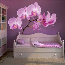 bedroom wall stickers orchid wall mural decal beautiful wall decal murals primedecals