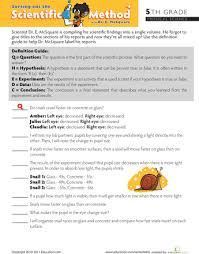 scientific method worksheets 5th grade worksheets