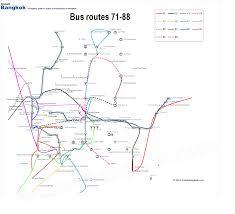 Bangkok Map Bangkok Bus Map Route 71 88
