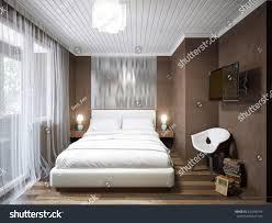 Urban Modern Interior Design Urban Contemporary Modern Small Bedroom Interior Stock