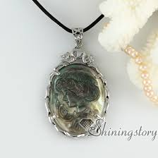 cameo necklace pendant images Penguin oyster shell rhinestone lady 39 s head sea turtle openwork jpg