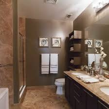 dark brown bathroom wall paint including light brown granite