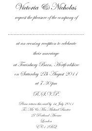 wedding invitation format wedding invitation exles