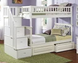 bedroom dazzling white bunk beds with stairs image of in