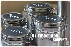 stainless steel kitchen canisters chalkboard canisters9 550x366 jpg